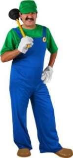 Adult Mario Brothers Luigi Costume (SizeLarge) Clothing
