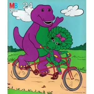 Barney and Baby Bop on a Bicycle 24 Piece Puzzle Toys & Games
