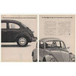 1972 VW Volkswagen Beetle Bug Economy Car Buy Sell 2 Page Print Ad