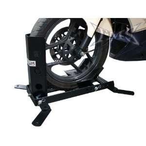 Adjustable Motorcycle Trailer Wheel Chock Bike Stand Mount: Automotive
