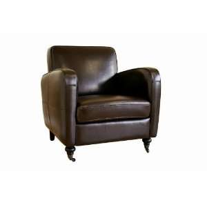 Dark Brown Full Leather Arm Chair