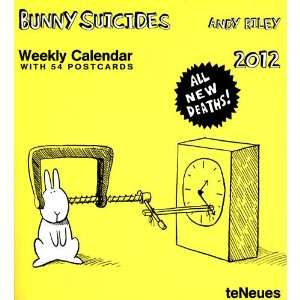 Bunny Suicides Postcards 2012 Easel Desk Calendar: Office