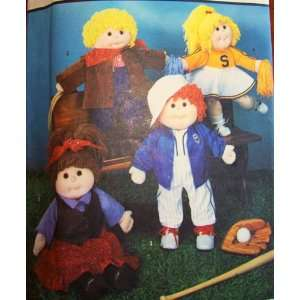 Cabbage Patch Kids Sports Clothing 18 Sculptured Dolls Butterick