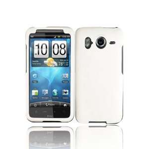 HTC Inspire 4G Rubberized Shield Hard Case   White
