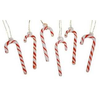 Set of 3 Sugar Coated Candy Cane Glass Ball Christmas Ornaments 3.25