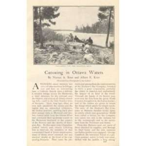 1905 Canada Canoeing In Ottawa Waters Quinze Lake