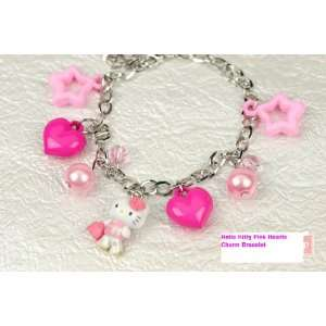 Hello Kitty Pink Hearts Charm Bracelet