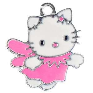 Hello Kitty winged fairy enamel charm   Pink Arts, Crafts & Sewing