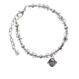 Small Pirate   Mascot Clear Czech Glass Beaded Charm Bracelet [Jewelry