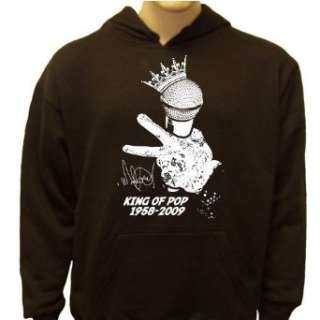 Michael Jackson Microphone Memorial Sweatshirt Clothing