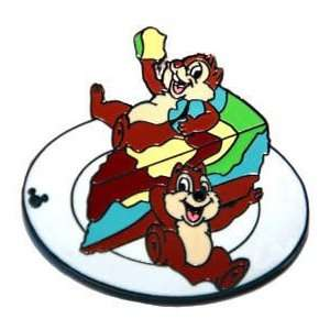 Hidden Mickey Chip & Dale Food Cheesecake Disney Pin