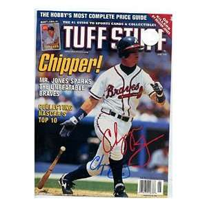 Chipper Jones Autographed/Signed Magazine Page Sports