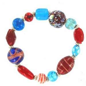 Lampwork, Glass & Bali Style Beads Bracelet 3 Arts, Crafts & Sewing