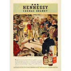 1939 Ad Hennessy Cognac Brandy Cheers Pickwick Papers