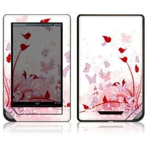 Nook Color Decal Sticker Skin   Pink Butterfly Fantasy