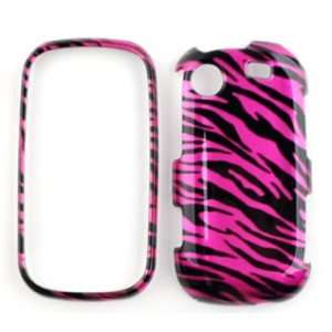 Messager Touch R630 Transparent Design,Hot Pink Zebra Hard Case/Cover