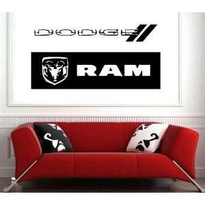 Garage Wall Dodge Emblem Logo Decal Sticker Art S.5878
