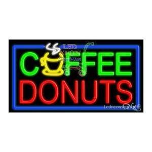 Coffee Donuts Neon Sign 20 inch tall x 37 inch wide x 3.5