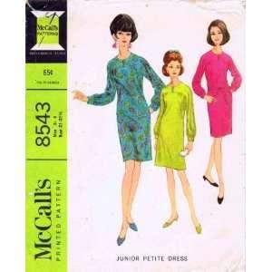 McCalls 8543 Sewing Pattern Dress Yoke Long Sleeves Size