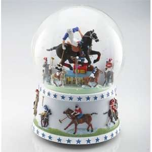 Equestrian Argentine Polo Musical Snow Globe Sports