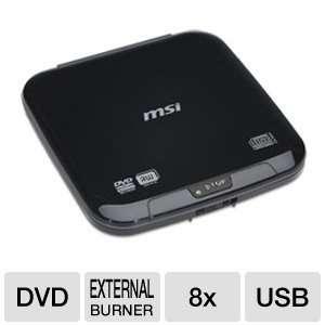 MSI External Slim Top Load USB 2.0 DVD/CD Writer UO882 BK