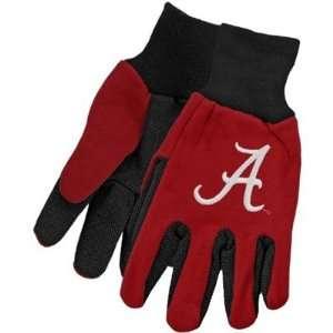 Alabama Crimson Tide Two Tone Gloves