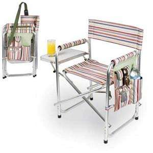 Folding Sports Chair With Table And Pocket Patio, Lawn