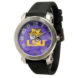 University LSU Licensed Collegiate Tigers Mens Silicone Rubber Watch