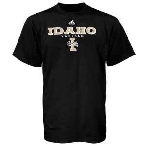 adidas Idaho Vandals Black True Basic T Shirt  Sports