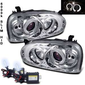 Xenon HID Kit + 93 98 Volkswagen Golf Halo Projector Head Lights Lamps