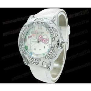 Hello Kitty White Crystal Watch + Hello Kitty Pouch & Extra Battery