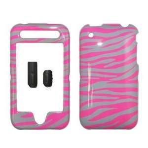 Grey and Hot Pink Zebra Stripes Design Snap On Cover Hard