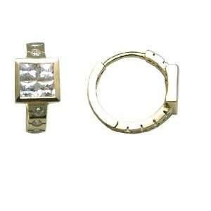 Intense Glamour 14K Yellow Gold Huggie Earrings Jewelry