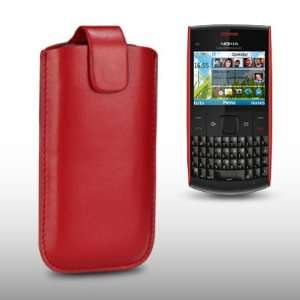 NOKIA X2 01 RED PU LEATHER CASE / COVER / POCKET / POUCH