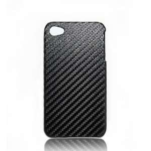 iPhone 4 Case Slim Carbon Fiber Design Hard Case Black