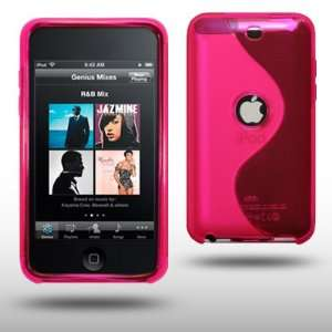 IPOD TOUCH 3 WAVE GEL CASE BY CELLAPOD CASES HOT PINK