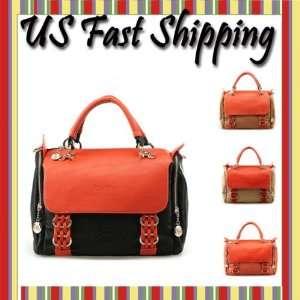 PU leather boston shoulder bag handbag satchel bagkuette tote bag