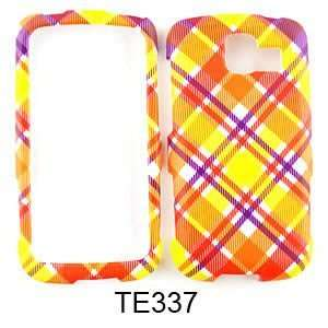 LG Optimus S LS670 Pink and Yellow Plaid Hard Case,Cover