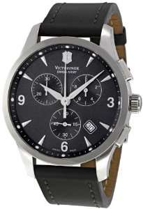 com Victorinox Swiss Army Alliance Chronograph Black Strap Mens Watch