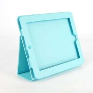 Apple iPad Stand Leather Case Cover Holder Blue