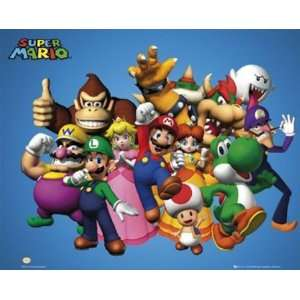 Super Mario Brothers Nintendo Video Game Poster 16 x 20