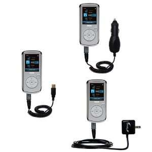 USB cable with Car and Wall Charger Deluxe Kit for the RCA