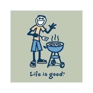 Life Is Good Mens Crusher Short Sleeve T shirts Jake BBQ
