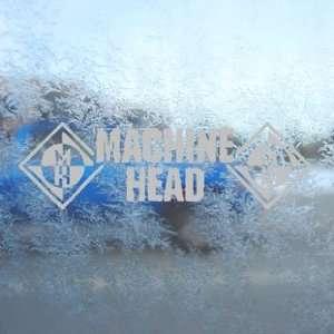 Machine Head Gray Decal Metal Rock Band Window Gray