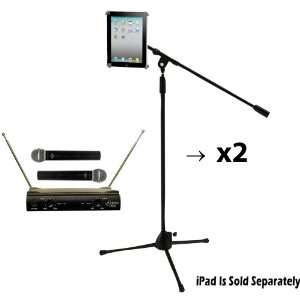 Dual Mic and Stand Package   PDWM2500   Dual VHF Wireless Microphone