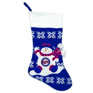 24 MLB Minnesota Twins Knit Snowman & Snowflake Christmas