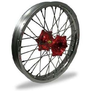 Pro Wheel MX Front Wheel Set   21x1.60   Silver Rim/Red Hub 23 41071