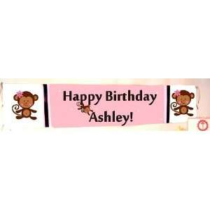 Monkey Happy Birthday Banner personalized: Health