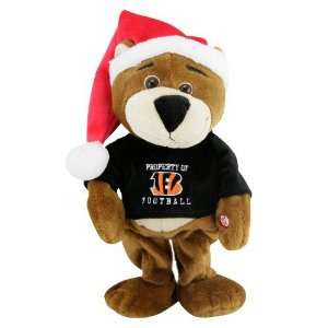 BENGALS MUSICAL DANCING CHRISTMAS TEDDY BEAR TOY