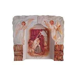 3D Standing Nativity Scene Christmas Card with Angels